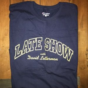Late Show with David Letterman T-Shirt NWOT
